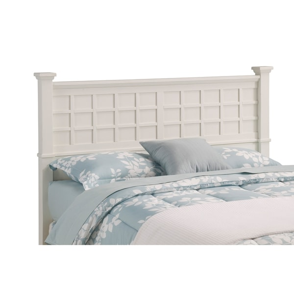 Home Styles Arts & Crafts White Queen/Full Headboard