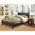 Arts and Crafts Black Queen Bed and Night Stand