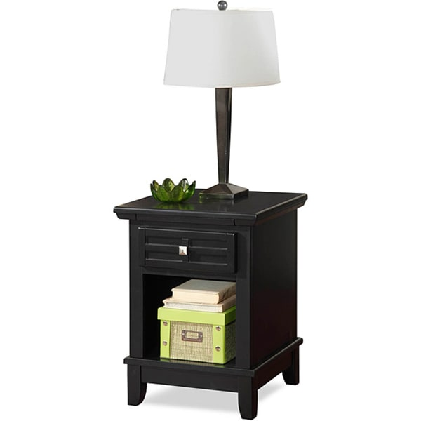 Home Styles Arts & Crafts Black Night Stand