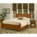 Arts & Crafts Oak Queen Bed and Night Stand Cottage
