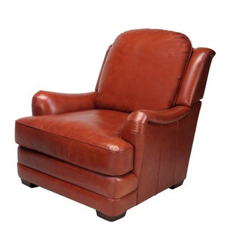 Giorgio Cognac Brown Leather Club Chair