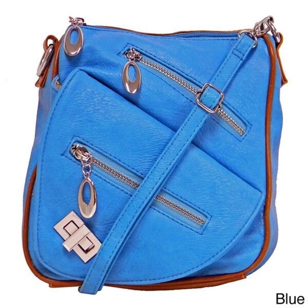 Donna Bella Designs 'Alida' Faux Leather Cross-body Bag