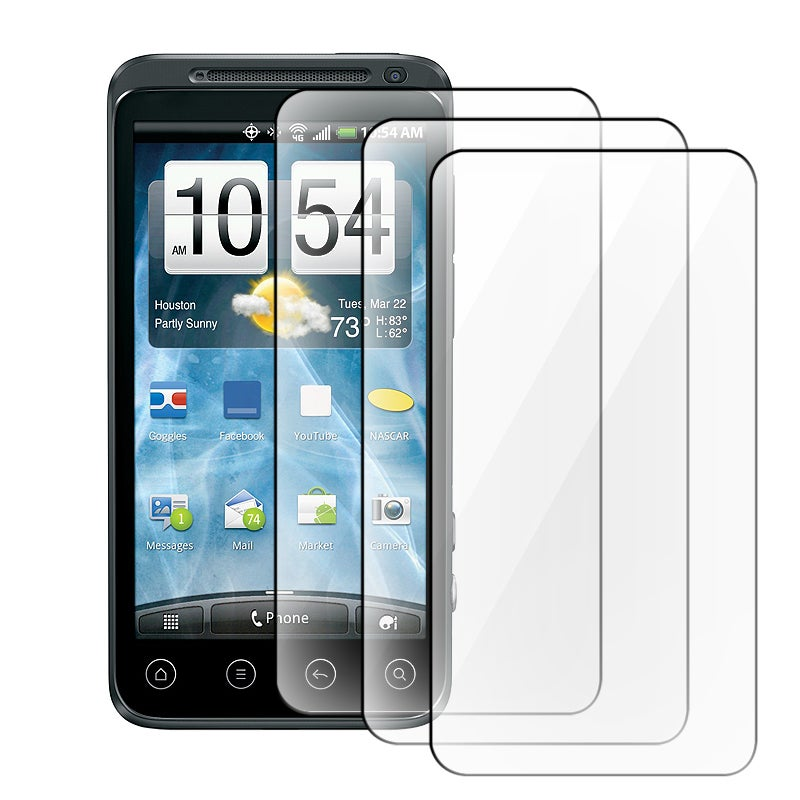 INSTEN Clear Screen Protector for HTC EVO 3D (Pack of 3)