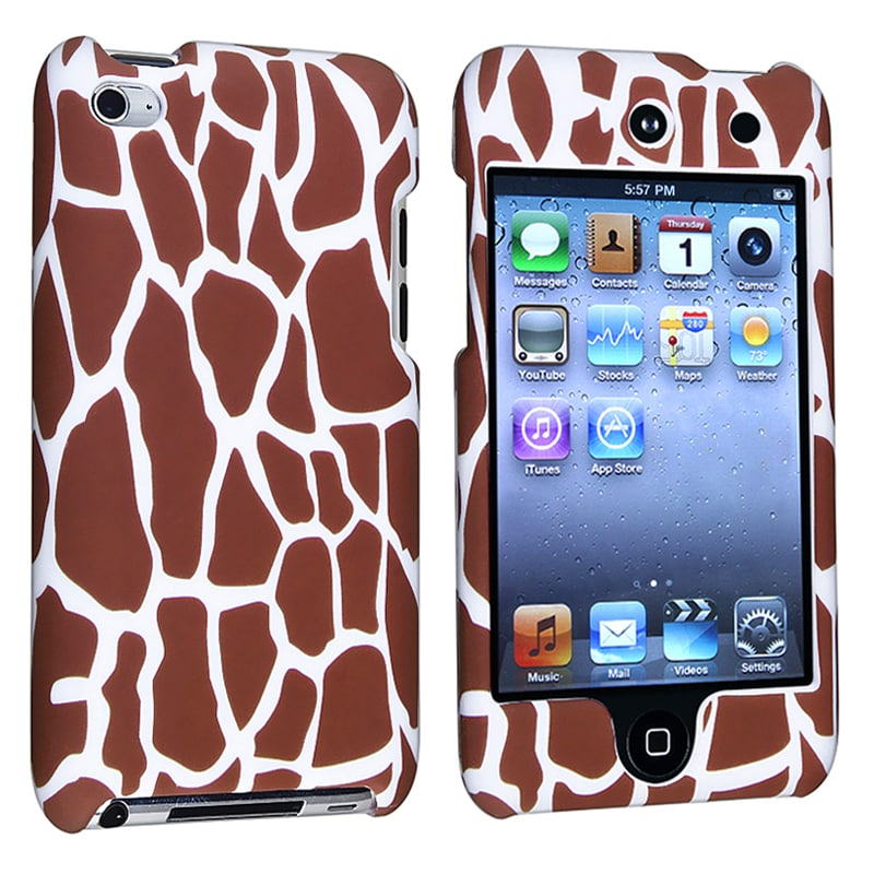 INSTEN Giraffe Snap-on Rubber Coated iPod Case Cover for Apple iPod Touch 4th Generation