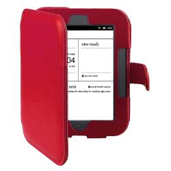 INSTEN Red Leather Phone Case Cover for Barnes & Noble Nook 2