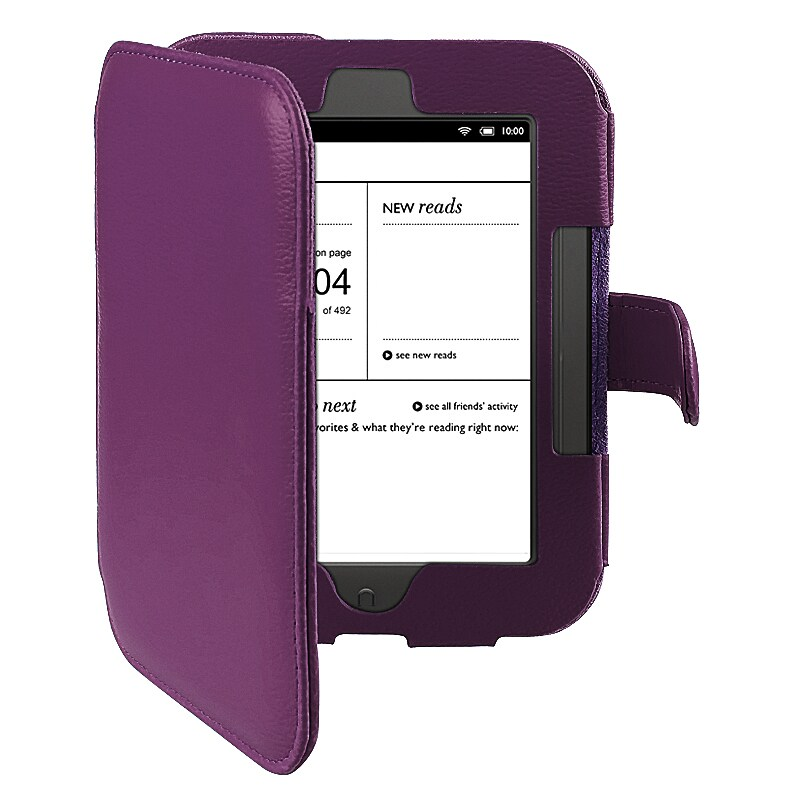 INSTEN Purple Leather Phone Case Cover for Barnes & Noble Nook 2