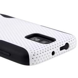 Black/ White Hybrid Case for Samsung Galaxy S II  T989