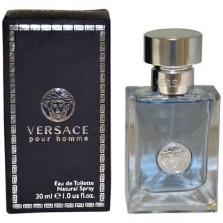 Versace Pour Homme Men's 1-ounce Eau de Toilette Natural Spray