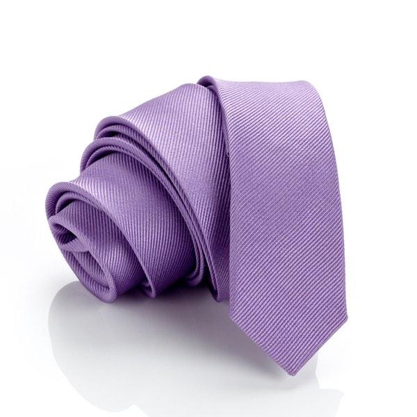 H. Luzzario and Co Lavender Silk Slim Tie