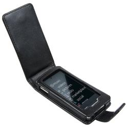 INSTEN Black Leather Phone Case Cover with Belt Clip for Microsoft Zune HD