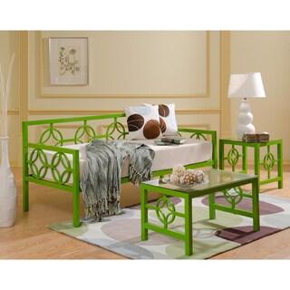Medallion Organic Green Sofa Depth Daybed and Memory Foam Mattress
