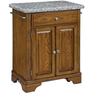 Home Styles Premium Oak with Grey Granite Top Cuisine Cart