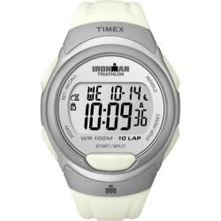 Timex Men's T5K609 Ironman Traditional 10-Lap White/Silvertone Watch