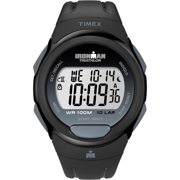 Timex Men's T5K608 Ironman Traditional 10-Lap Black Watch