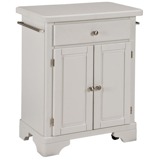 Home Styles Premium White with Wood Top Cuisine Cart