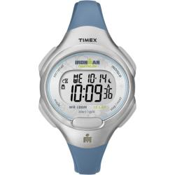 Timex Women's T5K604 Ironman Traditional 10-Lap Blue/Silvertone Watch