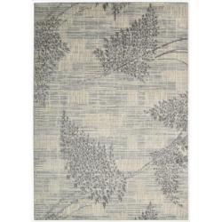 """Nourison Utopia Ivory Abstract Indoor Rug (3'6"""" x 5'6"""")"""