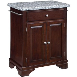 Home Styles Premium Cherry with Grey Granite Top Cuisine Cart