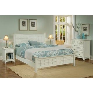 Arts & Crafts White 3-piece Queen-size Bedroom Set