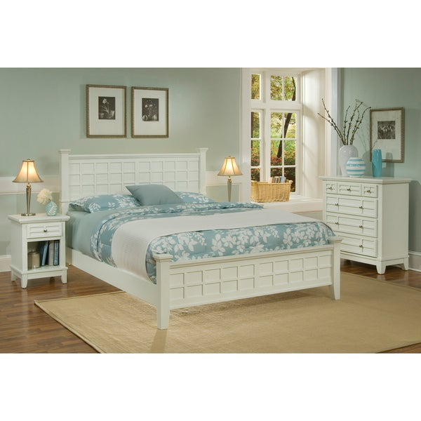 Home Styles Arts & Crafts White 3-piece Queen-size Bedroom Set