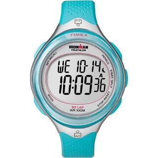 Timex Women's T5K602 Ironman Clear View 30-Lap Caribbean Blue/Silvertone Watch