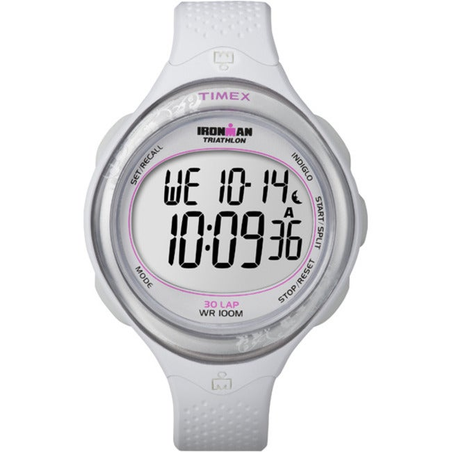 Timex T5K6019J Women's Ironman Clear View 30-lap White/ Silvertone Watch