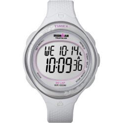 Timex Women's T5K601 Ironman Clear View 30-Lap White/Silvertone Watch