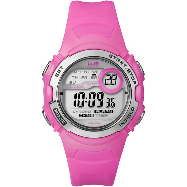 Timex Women's T5K595 1440 Sports Digital Bright Pink Resin Watch