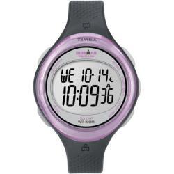 Timex Women's T5K600 Ironman Clear View 30-Lap Dark Grey/Pink Watch