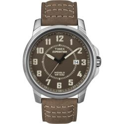 Timex Men's T49891 Expedition Metal Field Brown Leather Strap Watch