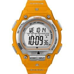 Timex Men's T5K585 Ironman Traditional Shock 30-Lap Orange/Silvertone Watch