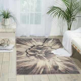 Nourison Utopia Ivory/Taupe Abstract Rug (3'6 x 5'6)