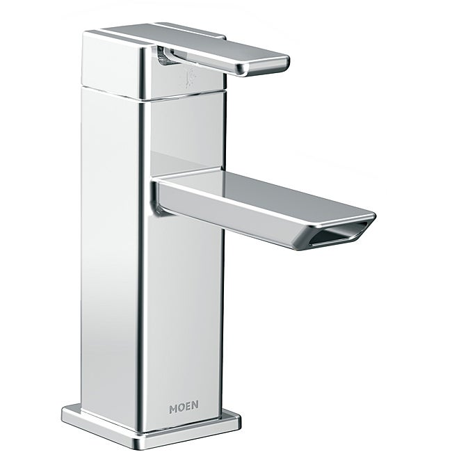 Moen S6700 90-degree One-Handle Low Arc Chrome Bathroom Faucet