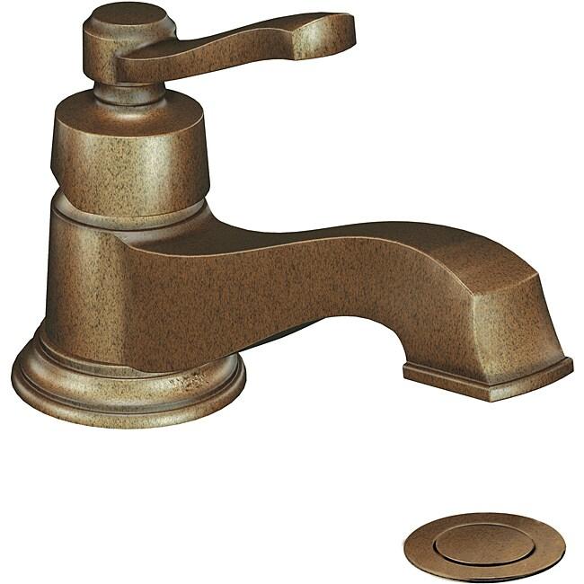 Moen Rothbury Low Arc Antique Bronze Bathroom Faucet