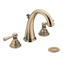 Moen T6125AZ Kingsley 2-handle High Arc Antique Bronze Bathroom Faucet