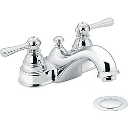 Moen 6101 Kingsley Two-Handle Bathroom Faucet with Drain Assembly Chrome