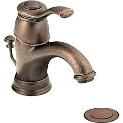 Moen 6102ORB Kingsley One-Handle Bathroom Faucet with Drain Assembly Oil Rubbed Bronze