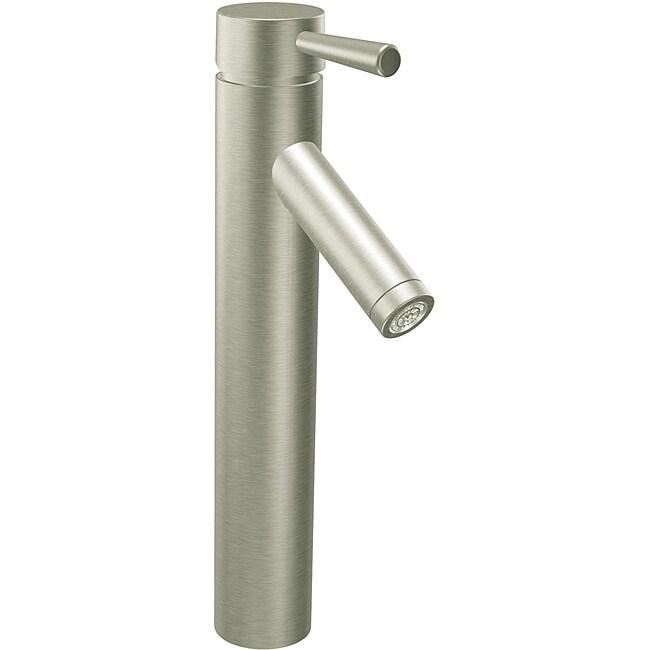 Moen 6111BN Level One-Handle Vessel Bathroom Faucet Brushed Nickel