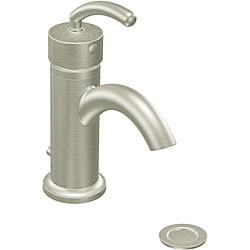 Moen S6500BN ICON One-Handle Low Arc Bathroom Faucet Brushed Nickel