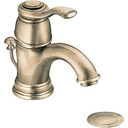 Moen 6102AZ Kingsley One-Handle Low Arc Bathroom Faucet Antique Bronze