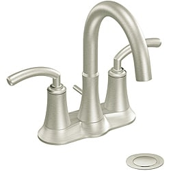 Moen S6510BN ICON Two-Handle High Arc Bathroom Faucet Brushed Nickel