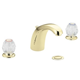 Moen Chateau Polished Brass Two-Handle Bathroom Faucet with Drain Assembly