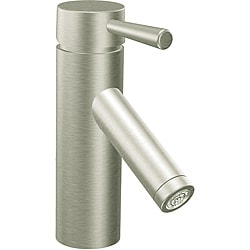Moen 6100BN Level One-Handle Bathroom Faucet with Drain Assembly Brushed Nickel
