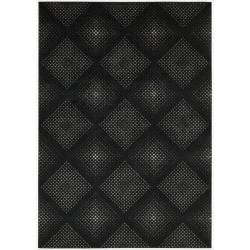 Nourison Utopia Black Abstract Rug (3'6 x 5'6)