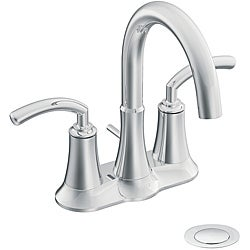 Moen S6510 Icon Chrome Two-Handle Bathroom Faucet with Drain