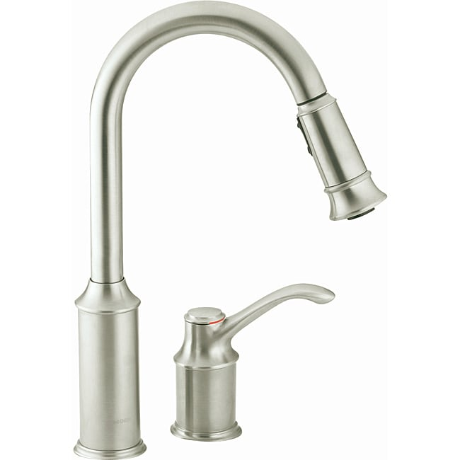 Moden Aberdeen e handle High Arc Pulldown Kitchen Faucet