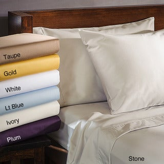 1000 Thread Count Cotton Blend Wrinkle-Resistant Pillowcases (Set of 2)