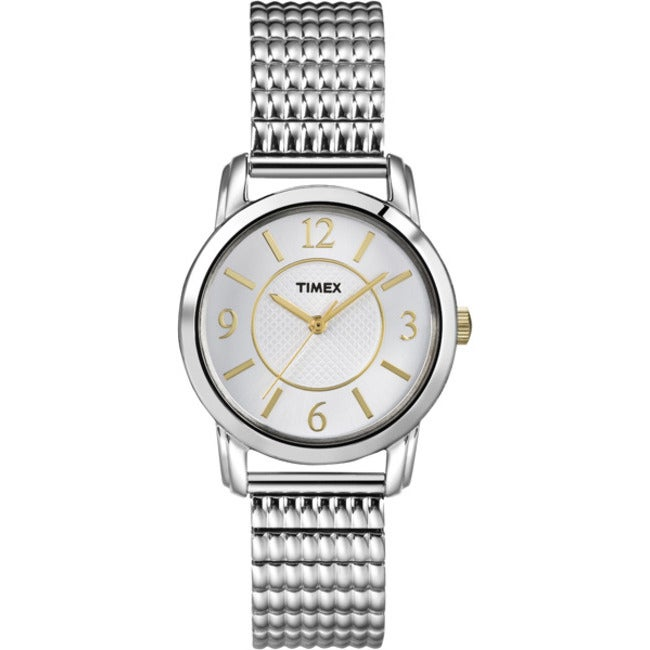 Timex T2N8449J Women's Elevated Dress with Silver Dial Watch