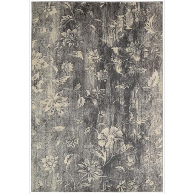 Nourison Utopia Grey Abstract Rug (3'6 x 5'6)