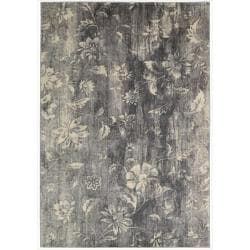 Nourison Utopia Grey Abstract Rug (3'6 x 5'6)